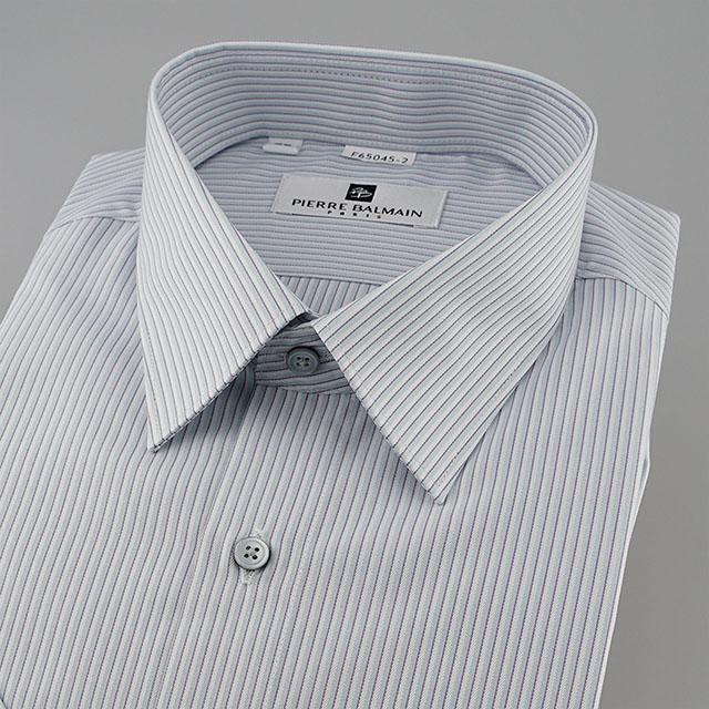 皮爾帕門pb紫色銀灰細條、辦公室主管 look短袖襯衫65045-02 -襯衫工房