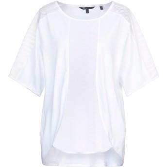 《セール開催中》ARMANI EXCHANGE レディース T シャツ ホワイト S コットン 100%