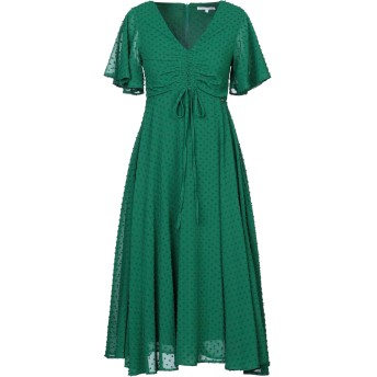 《セール開催中》KORALLINE レディース 7分丈ワンピース・ドレス グリーン 44 ポリエステル 100%