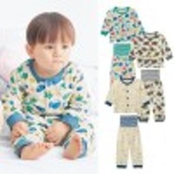 前開き腹巻付きボーイズパジャマ【男の子】【子供服 ベビー服】