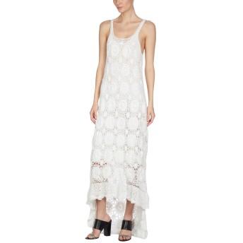《セール開催中》MES DEMOISELLES レディース ロングワンピース&ドレス ホワイト 38 コットン 100%
