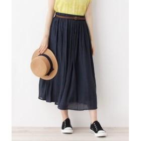 【SHOO・LA・RUE:スカート】ベルト付きギャザースカート