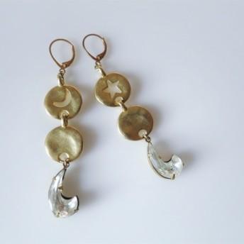 ヴィンテージピアス スター&ムーン vintage earrings star moon PE-STMN1