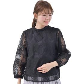 (アール・ピー・エス) r・p・s オーガンジー刺繍プチハイブラウス 0520200958 M ブラック