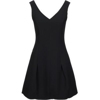 《セール開催中》ARMANI EXCHANGE レディース ミニワンピース&ドレス ブラック 0 ポリエステル 95% / ポリウレタン 5%