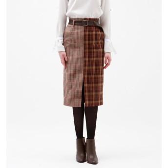 【ラブレス/LOVELESS】 【otonaMUSE10月号掲載】ハーフチェック タイトスカート