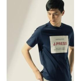 【J.PRESS MEN:トップス】天竺 ボックスロゴ Tシャツ