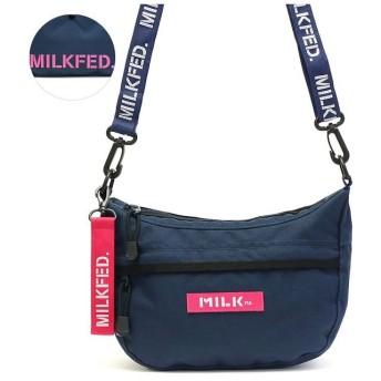 (MILKFED./ミルクフェド)ミルクフェド MILKFED. ROUND SHOULDER BAG ショルダーバッグ ラウンド ボックスロゴ 03195062/レディース ネイビー