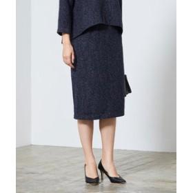 【ur's:スカート】ベーシックツイードタイトスカート