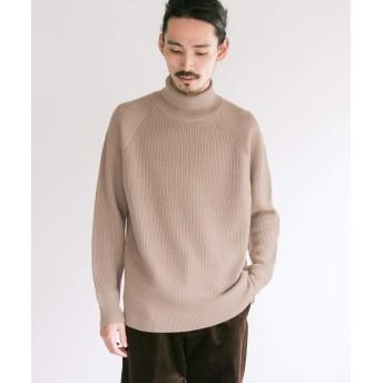 [アーバンリサーチ] セーター キャッシュフィールウール片畦タートルネックニット メンズ CAMEL M