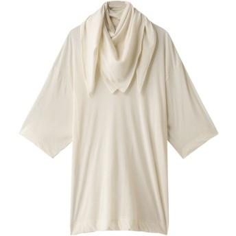 CINOH チノ 【予約販売】強撚コットン天竺ジャージースカーフTシャツ エクリュ
