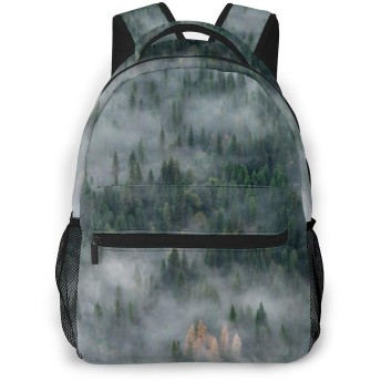 バックパック リュックサック 魔法の霧の森 ビジネス カジュアル リュック 軽量 超大容量 多機能 衝撃吸収 おしゃれ 通勤 通学 旅行 登山 出張 メンズ レディース