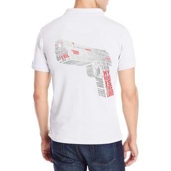 半袖 ポロシャツ メンズ 大きいサイズ ロゴ プリント クラシック パルプ・フィクション Poloシャツ 軽量 吸汗通気 Tシャツ バックプリント 抗菌防臭 カジュアル シャツ シンプル 通気性 おしゃれ S-2XL