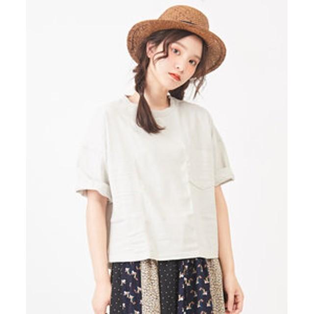 【CUBE SUGAR:トップス】【セール除外商品】空紡糸天竺ボトル入りビッグTシャツ