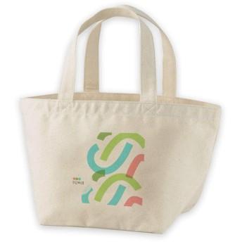 igsticker ランチバッグ ヘヴィー キャンバス プリント ミニトート トートバッグ ナチュラル 白 ホワイト tote bag 008335 ユニーク 水色 グリーン レッド 模様