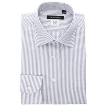 【THE SUIT COMPANY:トップス】【SUPER EASY CARE・再生繊維】ワイドカラードレスシャツ 〔EC・BASIC〕