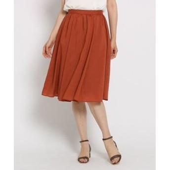【SunaUna:スカート】【洗える】タックギャザーローンスカート