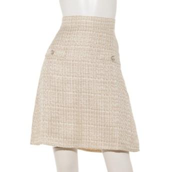 35%OFF CherryAnn (チェリーアン) ツイード台形スカート ベージュ