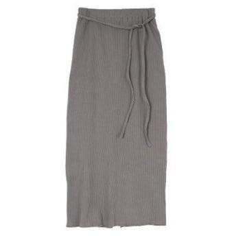 ユアーズ ur's リブナロースカート (チャコール)