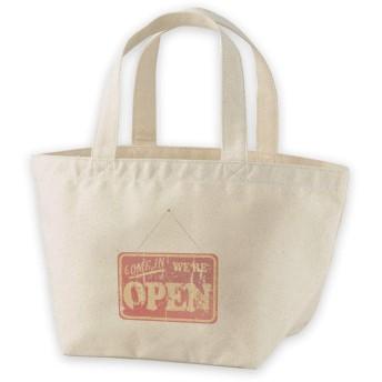 igsticker ランチバッグ ヘヴィー キャンバス プリント ミニトート トートバッグ ナチュラル 白 ホワイト tote bag 009181 英語 ヴィンテージ 赤