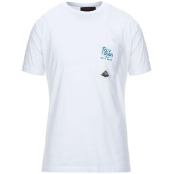 《セール開催中》RO ROGER'S メンズ T シャツ ホワイト L コットン 100%