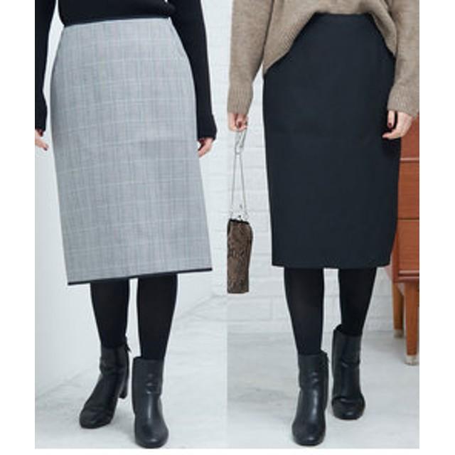 【ROPE' PICNIC:スカート】リバーシブルアイラインスカート
