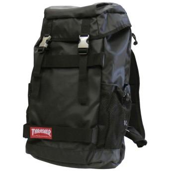 スラッシャー THRASHER リュック バッグ METAL BUCKLE FLAP BACK PACK デイバック メンズ レディース バックパック ブラック (BLACK/RED_TAG)
