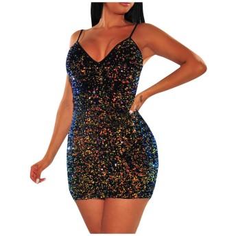 レディースクラブドレス女性セクシー無地中空ドレス女性のセクシーなスパンコールドレスタッセルsexy dress mini bodycon