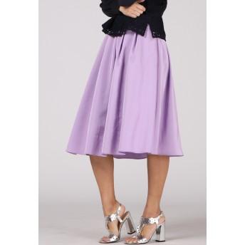 Viaggio Blu 【大きいサイズ】アンティークサテンフレアスカート その他 スカート,パープル