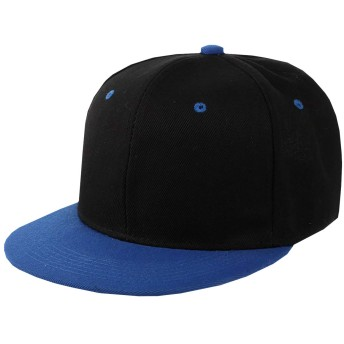N2 storm(エヌツーストーム) メンズ キャップ 帽子 平つば 迷彩 ミリタリー スポーツ アウトドア カジュアル おしゃれ BO64 (C黒青)