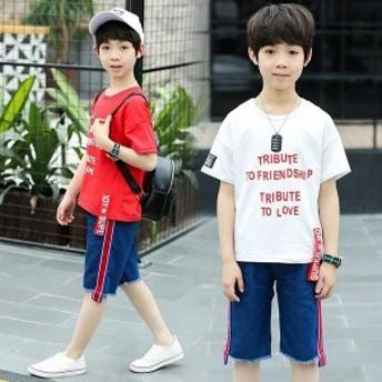 セットアップ上下セット女の子子供服半袖カットソーショットパンツハーフパンツキッズtシャツ韓国子供服ジュニア