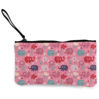 財布 ピンクのかわいい象 小銭入れ 収納 大容量 おしゃれ ファスナー 財布 メンズ レディース