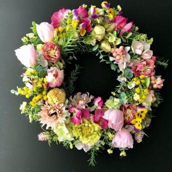 Spring tulip wreath 「受注制作」