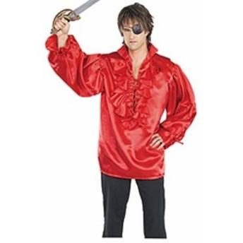 【送料無料】【海賊のシャツ レッド 衣装、コスチューム コスプレ (男性用)ハロウィン