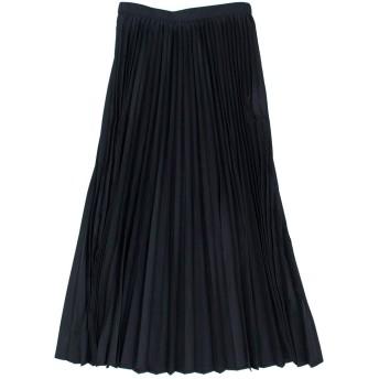 PARLMASEL パールマシェール レディース タスランタフタ アコーディオンプリーツスカート[L-9308]38サイズ 040 ブラック