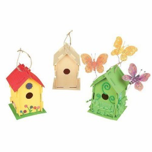 Fun Express Wooden Birdhouses FX IN-57-6085