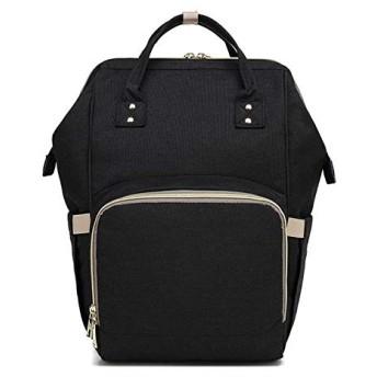 バックパック HYF多機能ダブルショルダーバッグハンドバッグ防水オックスフォード布バックパック、容量:16L(ブラック) (色 : Black)