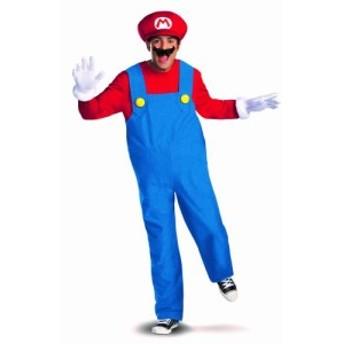 【Super Mario Brothers Mario Adult Plus Costume スーパーマリオブラザーズマリオ大人用プラス衣装♪ハロ