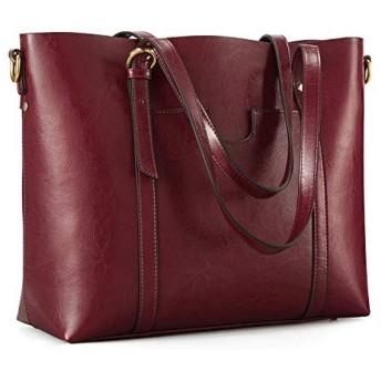Kattee Women's Genuine Leather Tote Bag Vintage Large Capacity Satchel Work Purses and Handbags with Ajustable(並行輸入品)