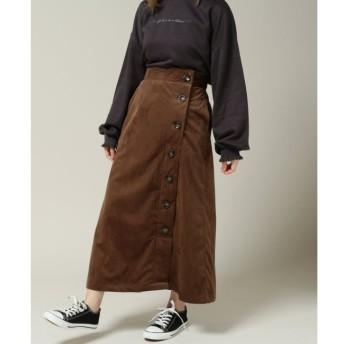 【レイカズン/RAY CASSIN】 コーデュロイ横ボタンスカート