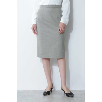 BOSCH T/Wハンドウォッシャブルセットアップスカート ひざ丈スカート,グレー