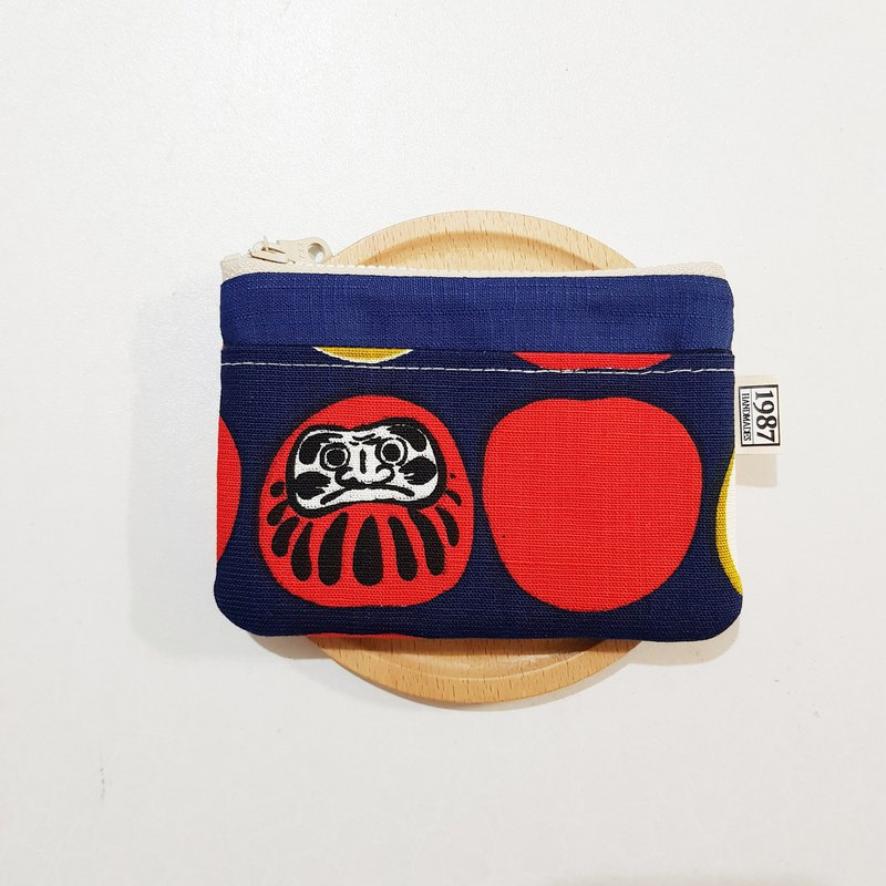【福神-(藍)】 零錢包 手拿包 隨身包 拉鏈袋 聖誕交換禮物
