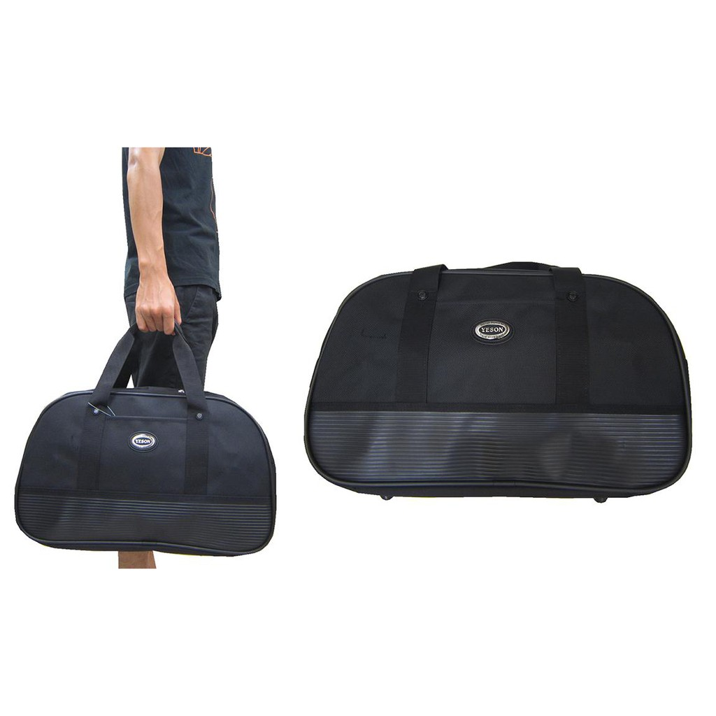 ~雪黛屋~YESON 旅行袋大容量工具袋台灣製造YKK零件附長背帶高單數彈道防水尼龍布耐磨耐承重提肩斜背Y46022