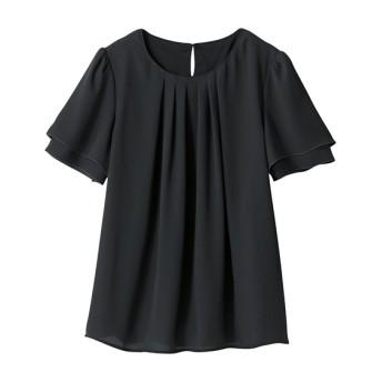 フロントタックブラウス(吸汗速乾裏地付) (大きいサイズレディース) plus size shirts