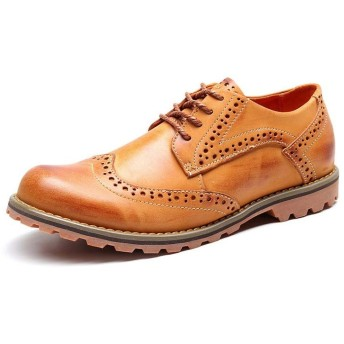 [CHUWIT] ハイキングシューズ メンズ レディース ハイカットトレッキングシューズ 暖かい 防滑 登山靴 ワークブーツ スノーブーツ 登山靴 アウトドア レザー レイン シューズ ブーツ (SIZE25/8/40/250, きいろ)