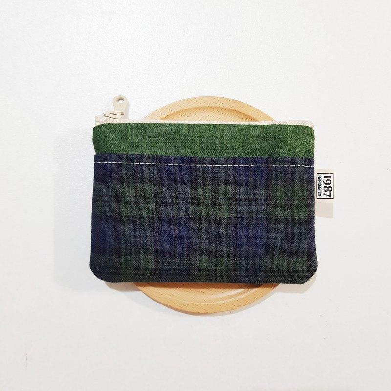 【蘇格蘭格】 零錢包 手拿包 隨身包 拉鏈袋 聖誕交換禮物