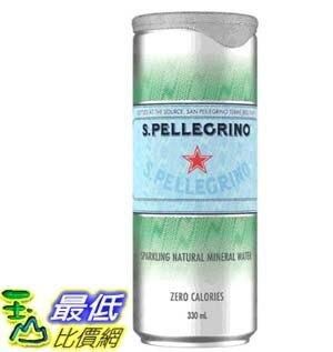 [COSCO代購] W125875 San Pellegrino 聖沛黎洛 天然氣泡礦泉水 330毫升 X 24罐