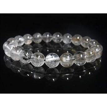 超輝 現品一点物 プラチナルチル ブレスレット 白金水晶 数珠 10ミリ 31g Pr61 クォーツ ルチル メンズ レディース 1点物 プレゼント ギフト 贈り物