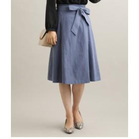 【ViS:スカート】ピーチ起毛タックフレアスカート