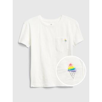 Gap プリントポケットTシャツ (キッズ)